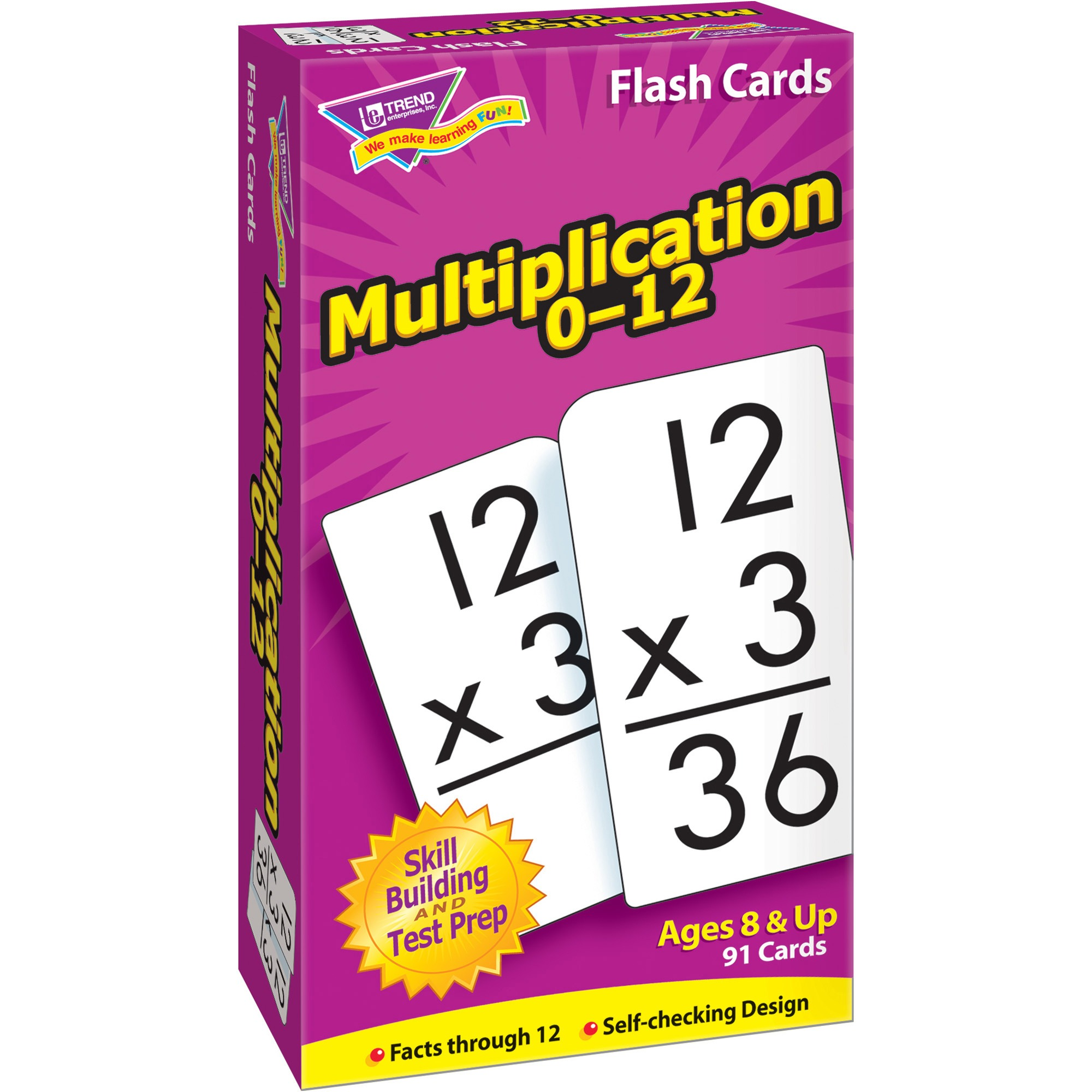Trend Enterprises Math Flash Cards Ages 8 & Up
