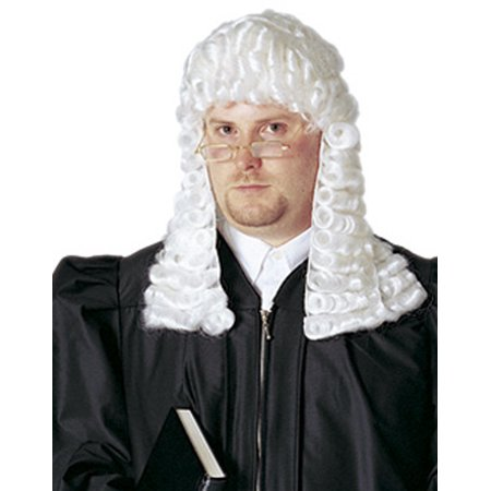 Vintage Colonial Supreme Court Barrister Judge Deluxe White Adult - Supreme Court Halloween