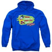 Mighty Mouse Here I Come Mens Pullover Hoodie