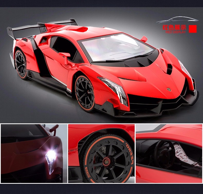 1/14 Lamborghini Veneno LP750-4 Radio Remote Control Sport Car R/C RTR  w/Rechargeable Battery R/C RTR (Red)