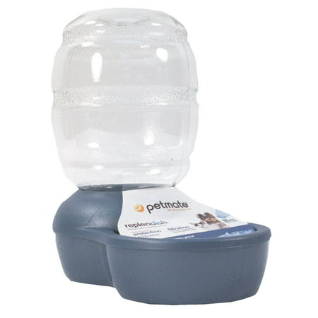 Petmate Pearl Replendish 4 Gallon Waterer With Microban, Peacock Blue