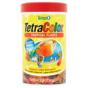 Tetra Tetra Color Tropical Flakes Natural Color Enhancer Fish Flakes, 2.2 Oz