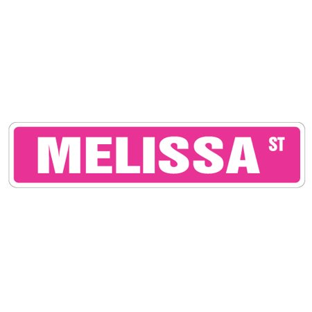 "MELISSA Street Sign Childrens Name Room Sign   Indoor/Outdoor   24"" Wide"