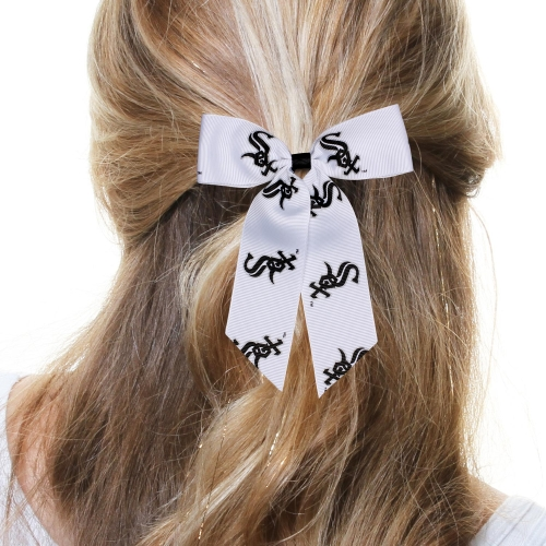 Chicago White Sox Women's Cheer Ponytail Hair Bow - No Size