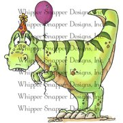 "Whipper Snapper Cling Stamp 4""X6""-Happy Dinoday"