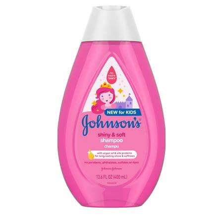 Johnson's Shiny & Soft Kids' Shampoo with Argan Oil, 13.6 fl.