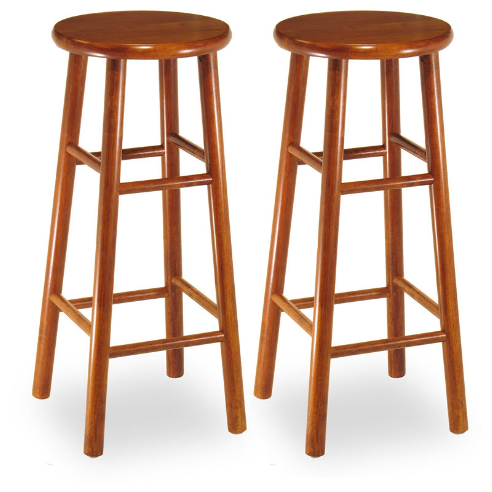 Winsome Wood 30 Inch Commander Beveled Seat Bar Stool   Set Of 2