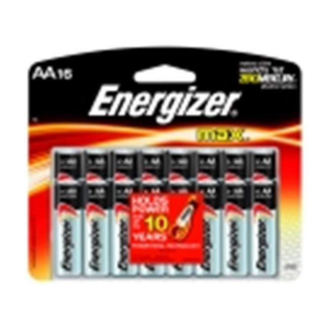 Energizer Max Alkaline Aa Battery, Pack 16