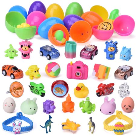 Plastic Easter Eggs Prefilled with Mini Toys, 48ct](Plastic Eggs With Toys)
