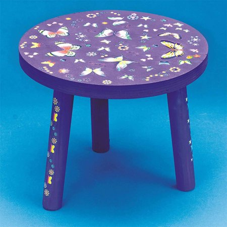 Wondrous 3 Legged Stool Unfinished Unassembled Machost Co Dining Chair Design Ideas Machostcouk