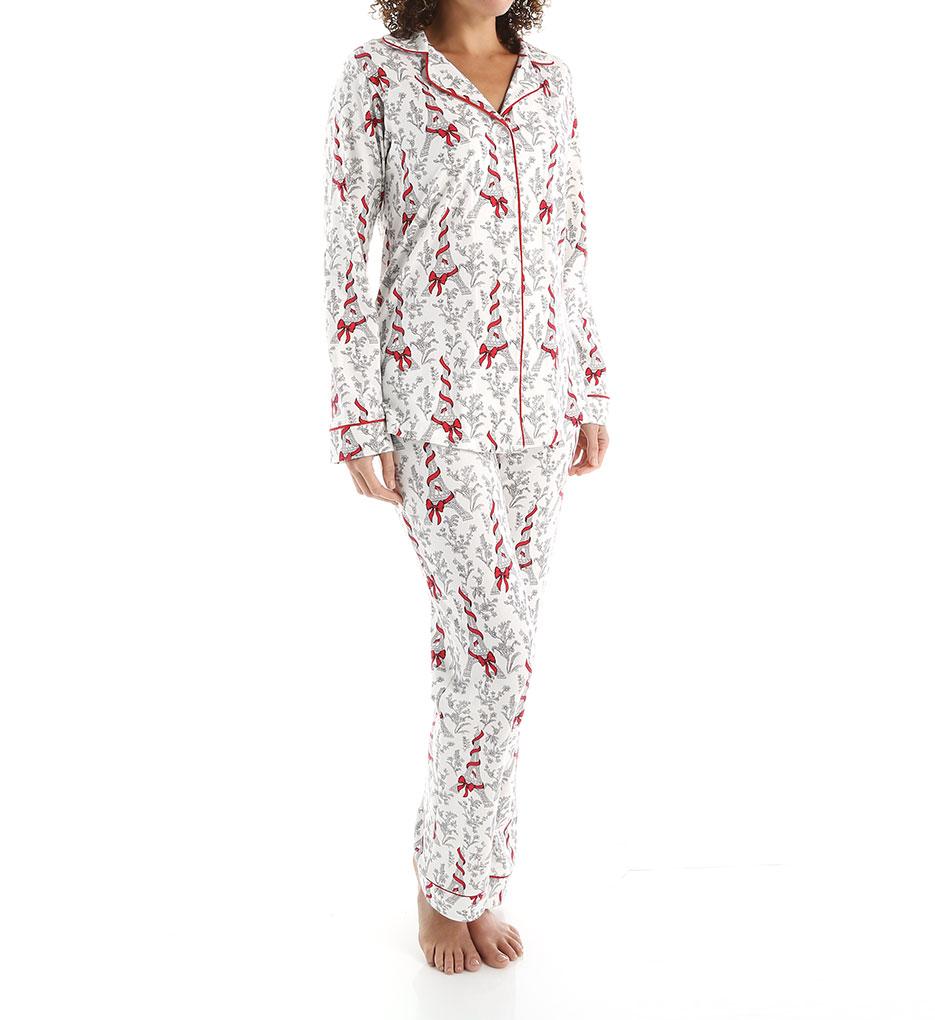 BedHead Pajamas 2622 Bow Eiffel Tower Long Sleeve Classic PJ Set ...