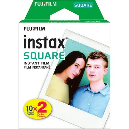 Fujifilm - instax SQUARE Twin Film (20 Sheets) - Black Frame