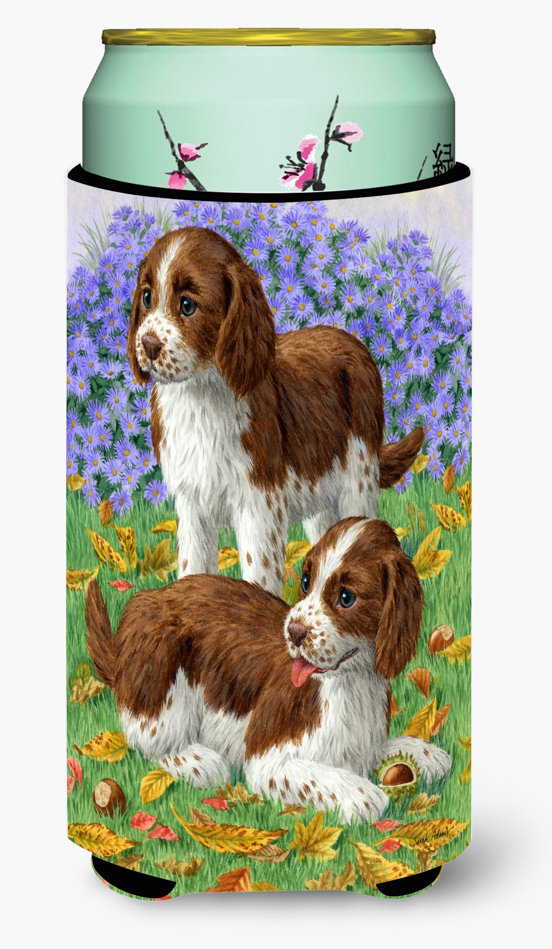 Welsh Springer Spaniel Pups Tall Boy Beverage Insulator ...