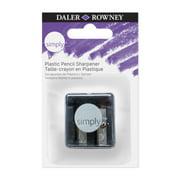 Daler-Rowney Simply Plastic Pencil Sharpener with Dual Holes, Black