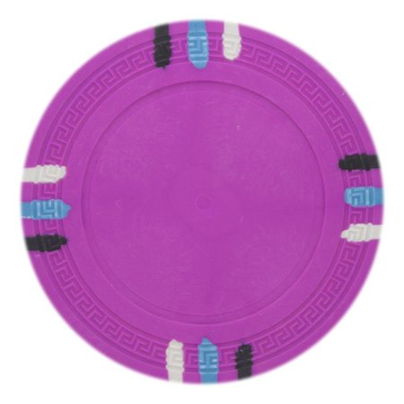 Blank Poker Chips (Roll of 25 - Pink Blank Claysmith 12 Stripe Poker Chip -)