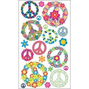 Sticko Stickers-Floral Peace Signs