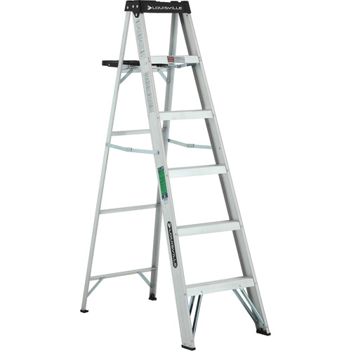 Louisville Ladder W-2213-06S 6 ft. Aluminum Ladder, Type II, 225 Lbs Load Capacity