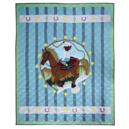 Patch Magic Lil Yeeehaw Cotton Throw