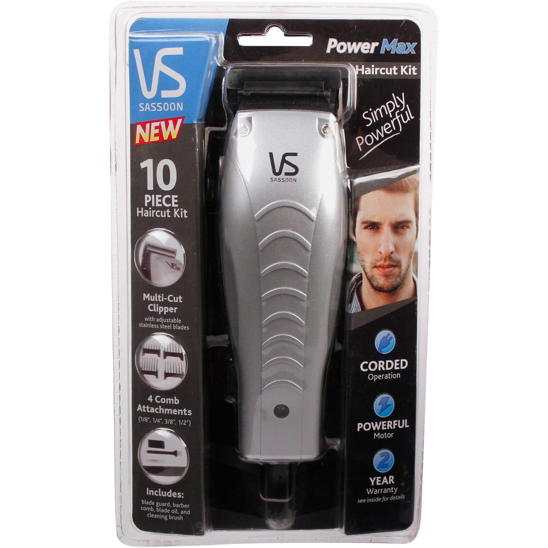 Vidal Sassoon Power Max Haircut Kit, 10 pc