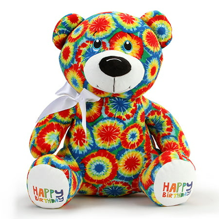 Tie Dye Circles Happy Birthday Bear Walmart Com