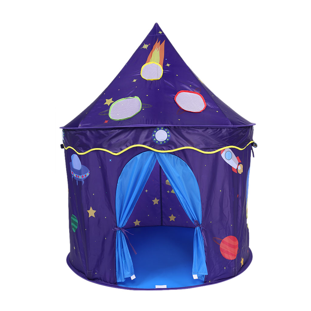 Adorable Foldable Castle Playhouse Secret Space Little Prince and Princess Play Tent Game House Indoor and Outdoor for Kids Boys Girls