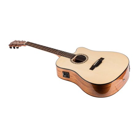MONOPRICE Idyllwild Spruce Solid Top Acoustic Electric Guitar with Fishman Pickup Tuner and Gig Bag (Pickups Acoustic Guitar)