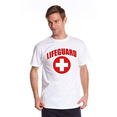 Officially Licensed Lifeguard White Tshirt, Crewneck Tee Shirt For Women, Men, Adults, - Dog Lifeguard Shirt