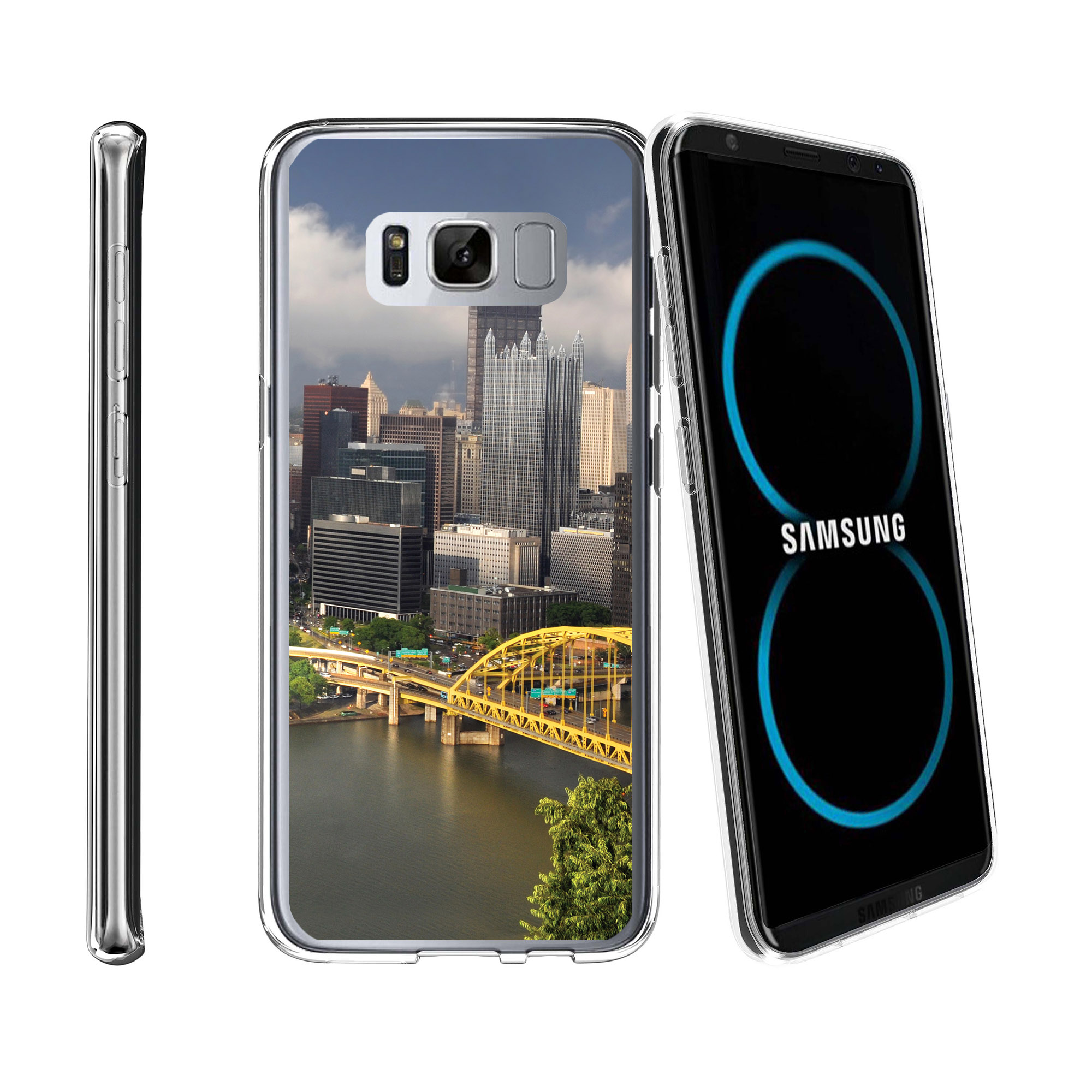 Case for Samsung Galaxy S8 Plus | Galaxy S8 Plus Transparent Silicone Case [ Flex Force ] Flexible Clear Case City Travel Series
