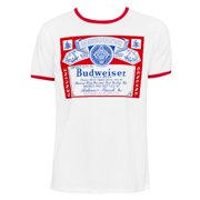 Budweiser Men's White Ringer T-Shirt-Small