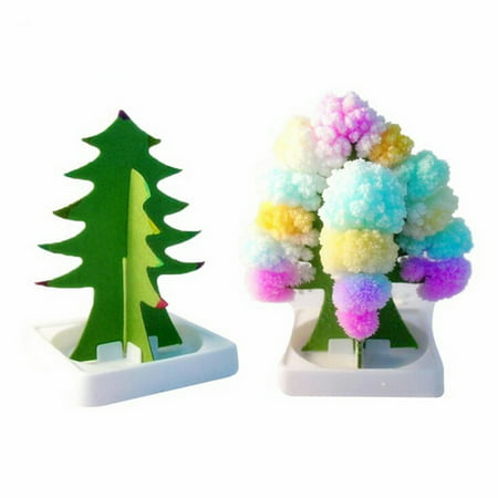 Flowering Gift Set - Smart Novelty Paper Tree Flowering Toy Creative Colorful Magic Tree Paper Crafts Gift