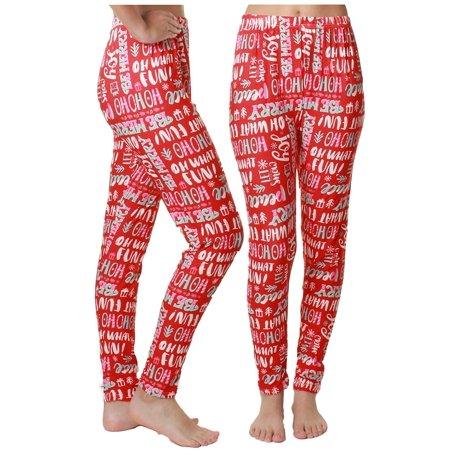 Gilbin Women's Comfortable Cute Ugly Christmas Print Stretch Footless High-Waist Leggings - Ugly Christmas Leggings