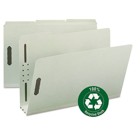 Smead Recycled Pressboard Fastener Folders, Legal, 3