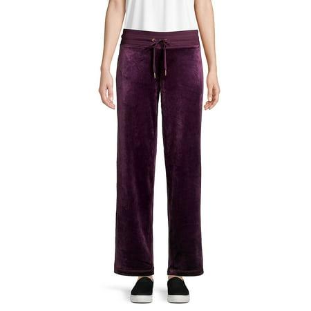 Wide-Leg Velour Pants