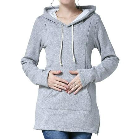 Sleeve Maternity Hoodie - Nlife Women Long Sleeve Breastfeeding Maternity Nursing Hoodie