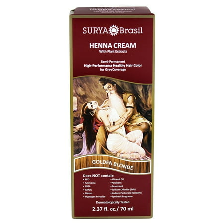 Surya Brasil - Henna Cream Hair Coloring with Organic Extracts Golden Blonde - 2.37 oz.