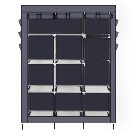 Heavy Duty Portable Closet Storage Organizer Wardrobe Clothes Rack