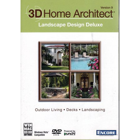 3D Home Architect LANDSCAPE Design Deluxe 9 DVDRom - Outdoor living, Decks, Landscaping (Clothing Design Software For Mac)