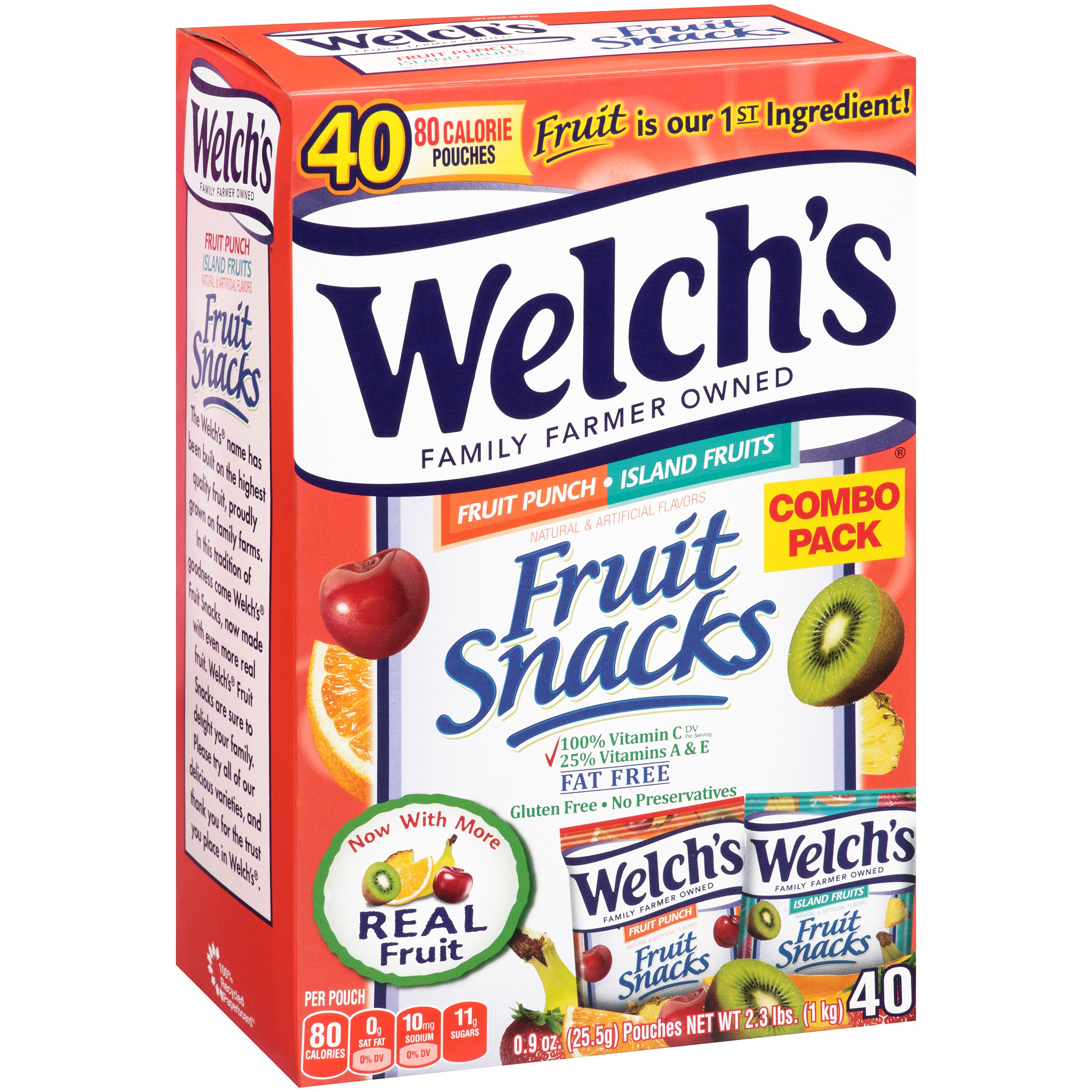 Welch's® Fruit Punch/Island Fruits Fruit Snacks 40-0.9 oz. Box