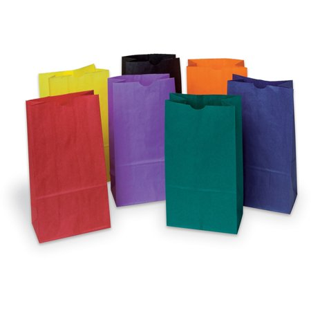 Assorted Gift Bags - Rainbow, PAC72140, Kraft Bag, 28 / Pack, Assorted