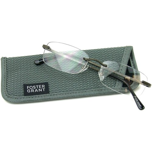 Foster Grant Men's T20 Reading Glasses, Black