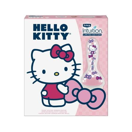 Schick Intuition Limited Edition Hello Kitty Advanced Moisture Razor, Includes Handle & 4 - Advance Razor