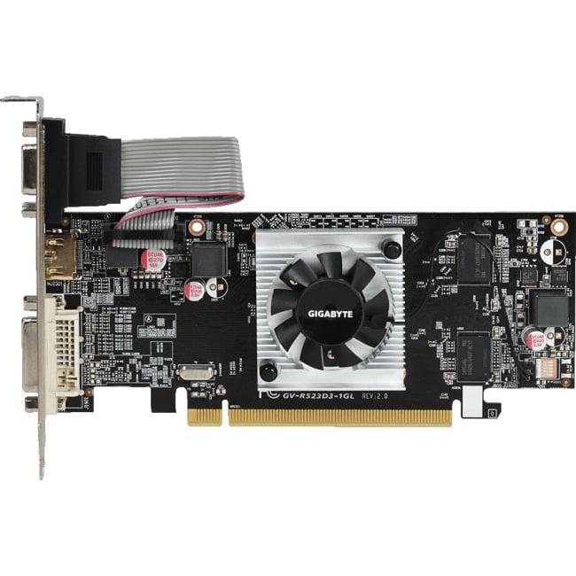 Gigabyte Radeon R5 230 Graphic Card GV-R523D3-1GL (rev. 2.0)