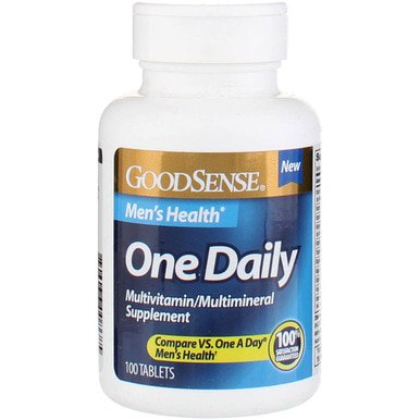 One Daily Mens 100 Tablets - GoodSense One Daily Men's Health Multivitamin Tablets, 100 Ct