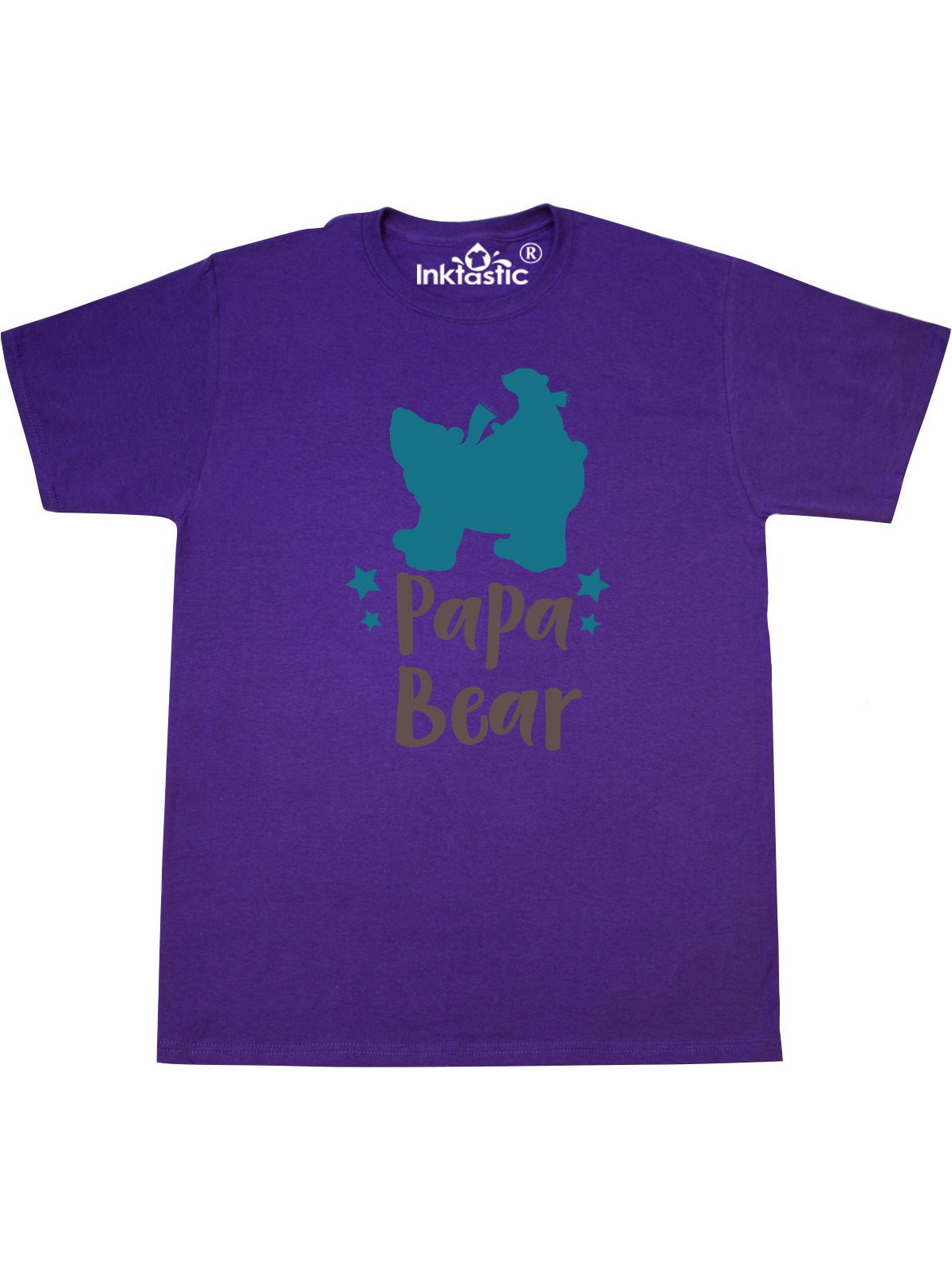 INKtastic - Papa Bear, Bear Cub, Father's Day - Blue Brown ...