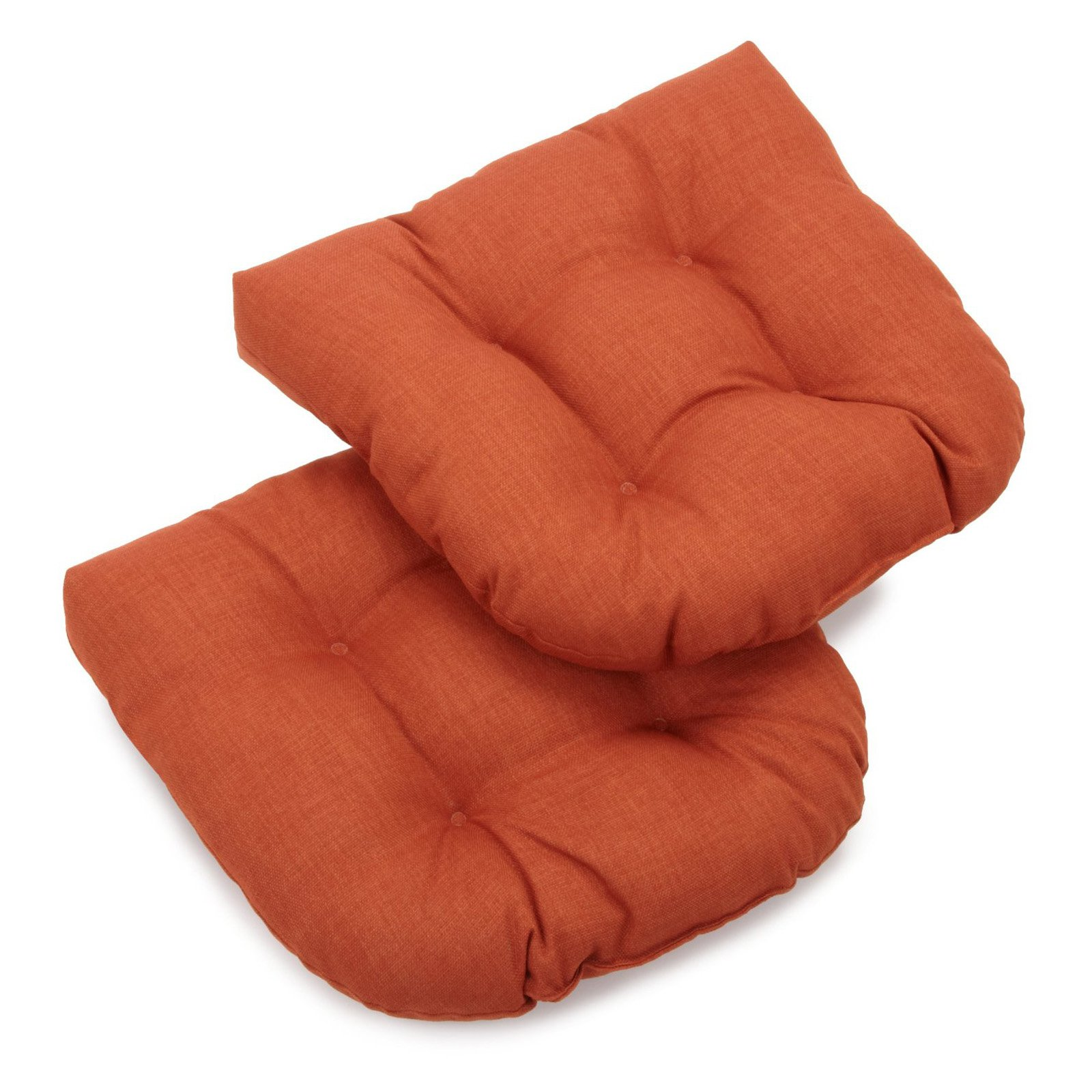 Blazing Needles 19 x 19 Solid Outdoor Wicker Chair Cushion