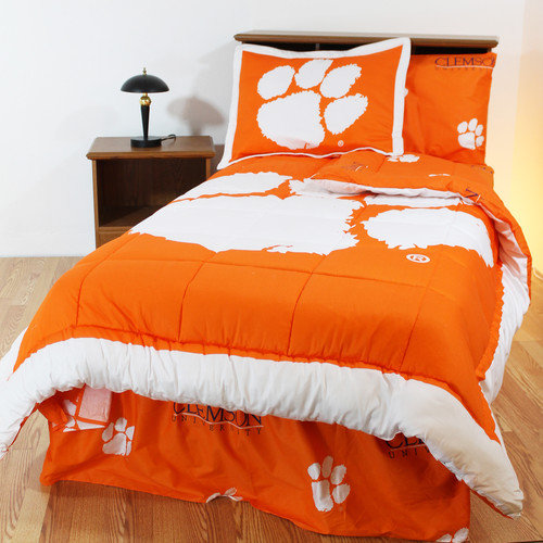 College Covers NCAA Clemson Bed in a Bag with Team Colored Sheets Collection