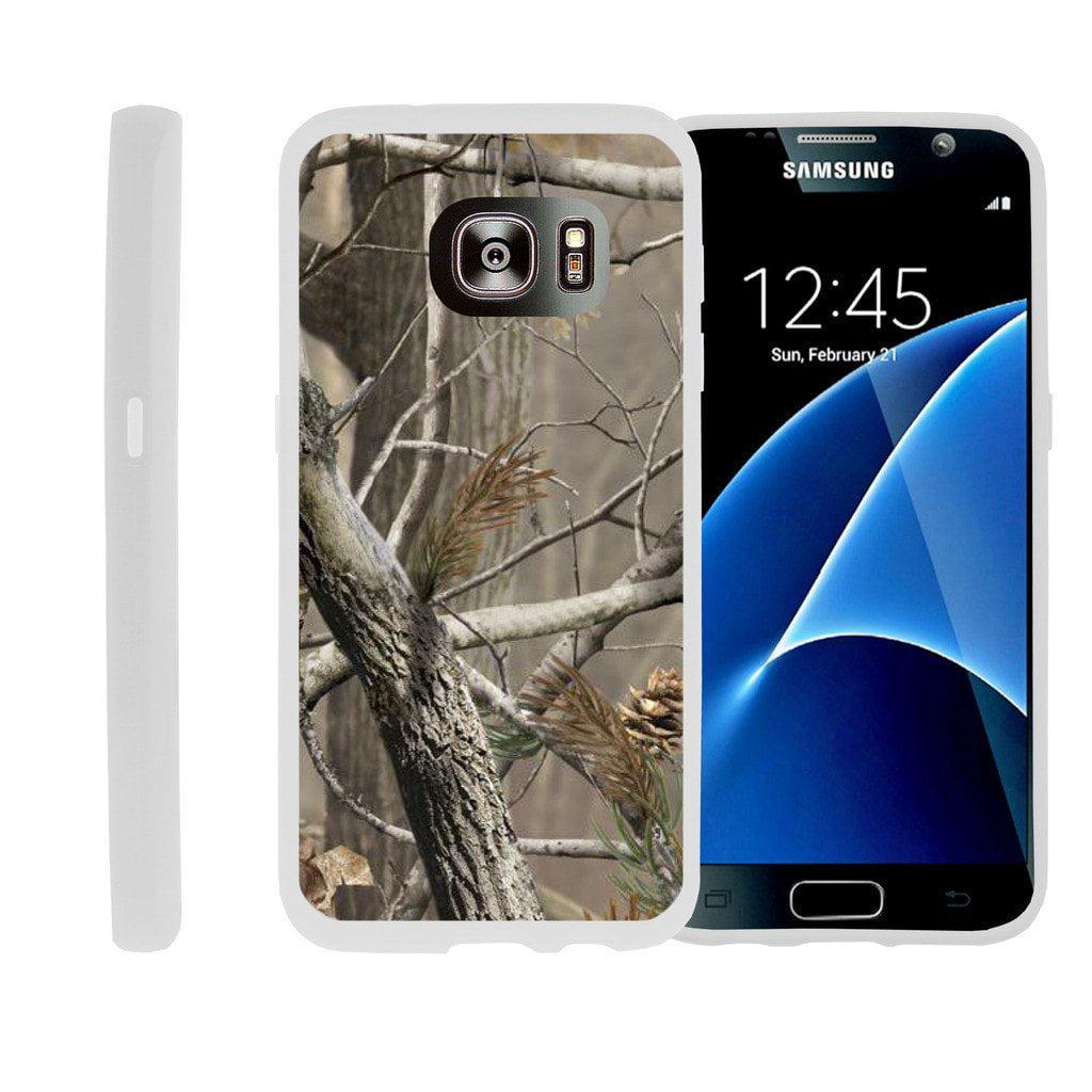 Flexible Case for Samsung Galaxy S6 Edge | SM-G925 Case [ Flex Force ] Lightweight Flexible Phone Case - Woods Tree Camo