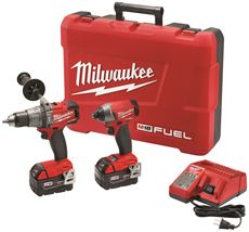 Milwaukee M18 Fuel 1 2 In. Hammer Drill And 1 4 In. Impact Driver Kit by Milwaukee Electric Tool