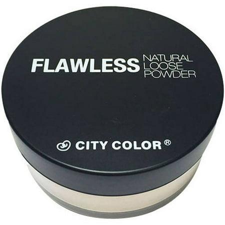 City Color Flawless Natural Loose Powder, Buff, .41 oz (City Colors)