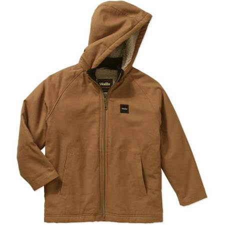 Boys' Sherpa Hooded Jacket with Kids Grow System